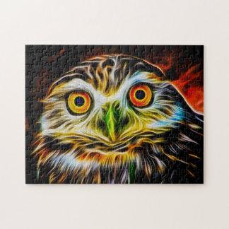 Owl 01 Digital Art - Photo Puzzle
