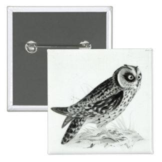 Owl 15 Cm Square Badge