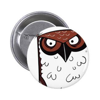 Owl 2 6 cm round badge