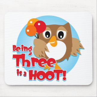 Owl 3rd Birthday Mousepad