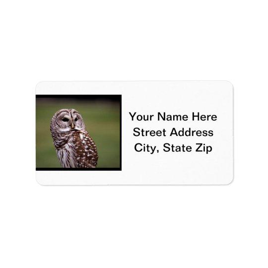 Owl (5) address label