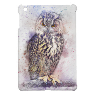 Owl Abstract Case Savvy Glossy iPad Mini Case