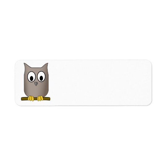 Owl address label