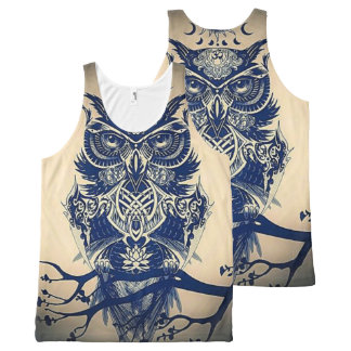 Owl All-Over Print Tank Top