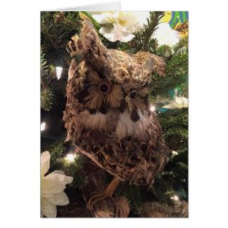 """OWL ALWAYS LOVE YOU"" CHRISTMAS OWL GREETING CARD"