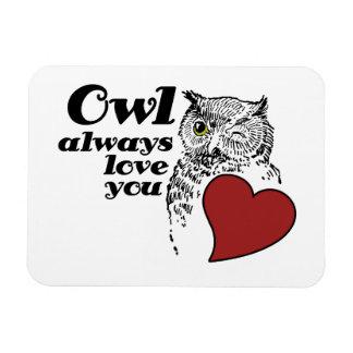 OWL always love you Rectangular Photo Magnet
