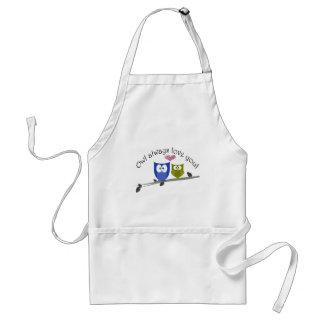 Owl always love you! standard apron