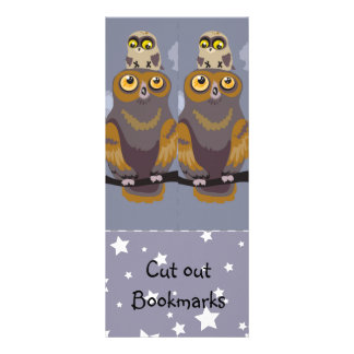 Owl and Baby ~ Cutout Bookmarks Personalised Rack Card
