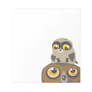 Owl and Baby~notes Notepad