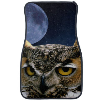 Owl and Blue Moon Car Mat