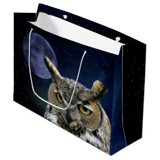 Owl and Blue Moon Large Gift Bag