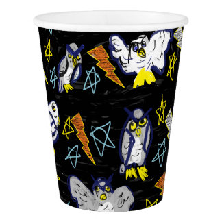 owl and bolt paper cup