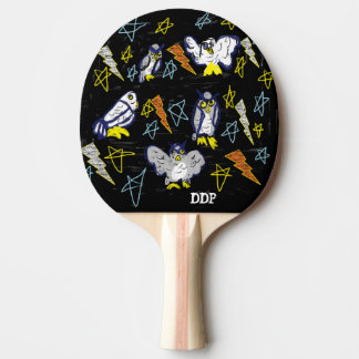 owl and bolt ping pong paddle