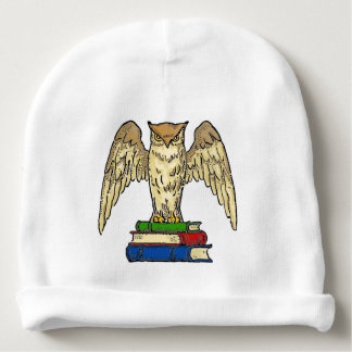 Owl and Books Baby Beanie