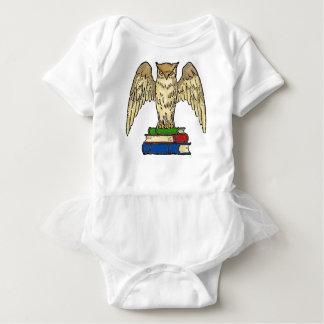 Owl and Books Baby Bodysuit