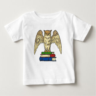 Owl and Books Baby T-Shirt