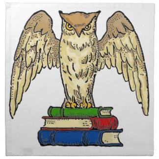 Owl and Books Napkin