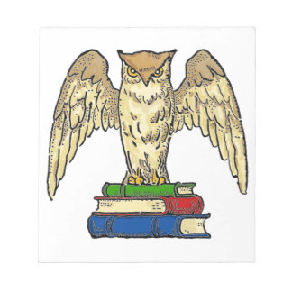 Owl and Books Notepad