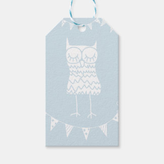 Owl and Buntings Gift Tag