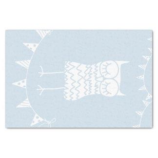 Owl and Buntings Tissue Paper