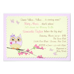 Owl and Butterflies Baby Shower Invitation