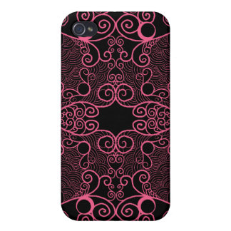 Owl and Firefly Lace Case For iPhone 4