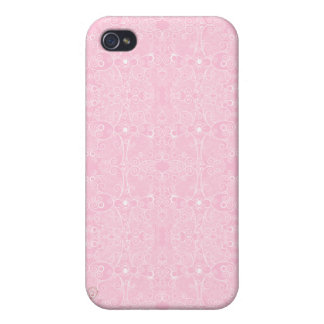 Owl and Firefly Lace Cover For iPhone 4