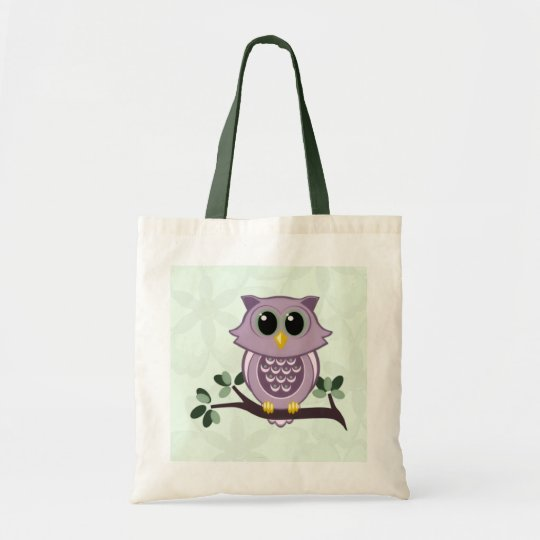 Owl and Flowers Budget Tote Bag