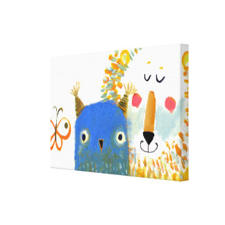 owl and lion canvas gallery wrapped canvas
