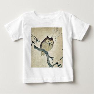 Owl and magnolia Ukiyoe Baby T-Shirt