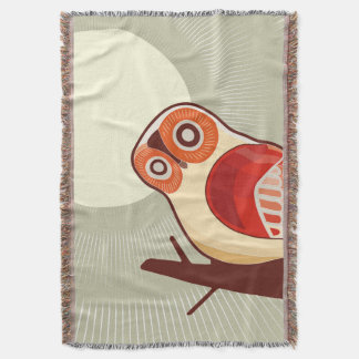 Owl And Moonlight Throw Blanket