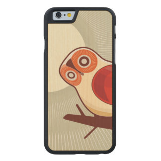 Owl And Moonlight Carved® Maple iPhone 6 Case