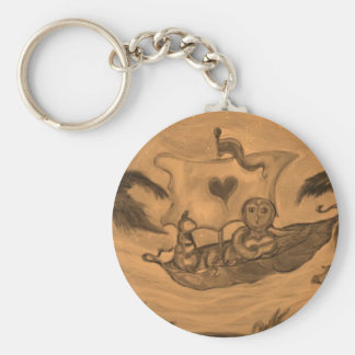 Owl and Pussy Cat boat Ride Key Ring