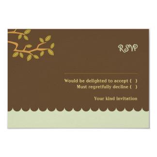 Owl and Pussycat Wedding RSVP w/ envelopes 9 Cm X 13 Cm Invitation Card