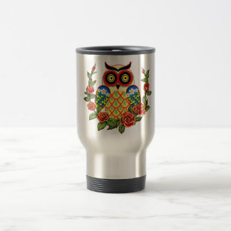 Owl and Roses Mexican style Mugs