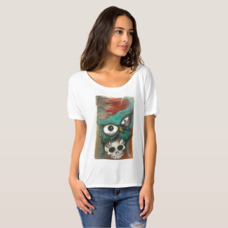 Owl and skull woman's t-shirt