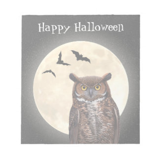 Owl and The Full Moon Notepad