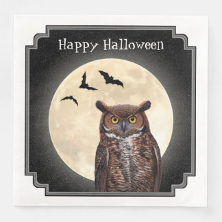 Owl and The Full Moon Paper Serviettes