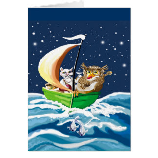 owl and the pussycat went to sea card