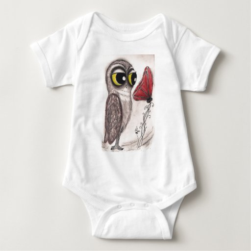 Owl and the Red Poppy T-shirts