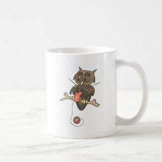 owl and yarn knifty knitter coffee mug