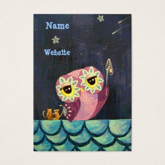 Owl Art- Catch A Falling Star Business Card