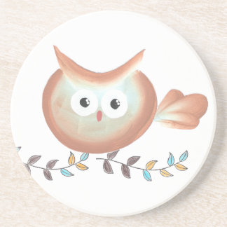 Owl Art Merchandise Coaster