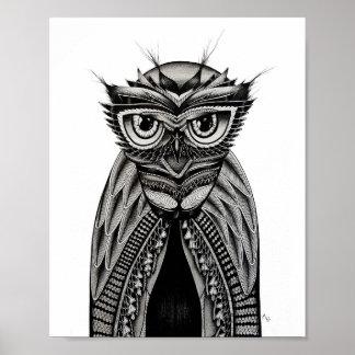 Owl Art Poster