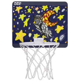 Owl art  two mini basketball hoop