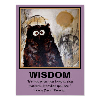 Owl Art Wisdom Print