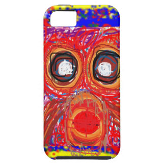 OWL Artistic Bird Prey Colorful Red GIFTS Greeting iPhone 5 Cases