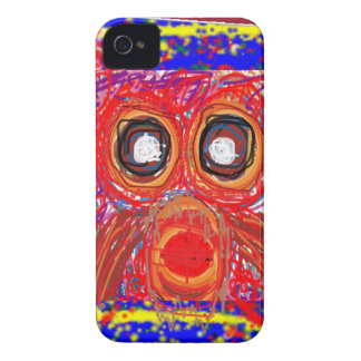 OWL Artistic Bird Prey Colorful Red GIFTS Greeting Case-Mate iPhone 4 Case