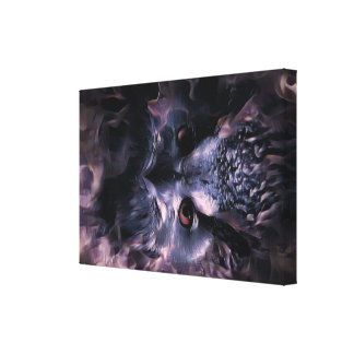 Owl at Night Canvas Print
