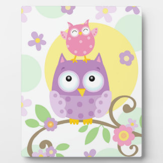 Owl Baby Art Easel Plaque